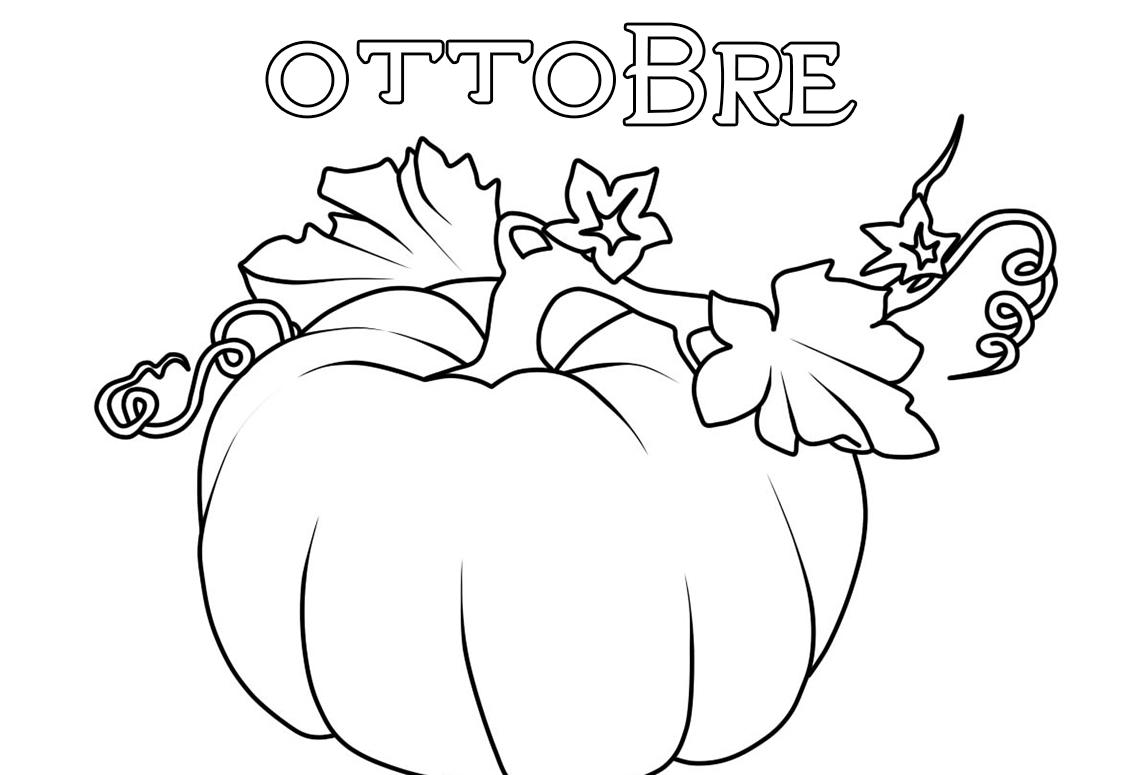 Disegno di Ottobre da colorare. 30 immagini per la stampa gratuita