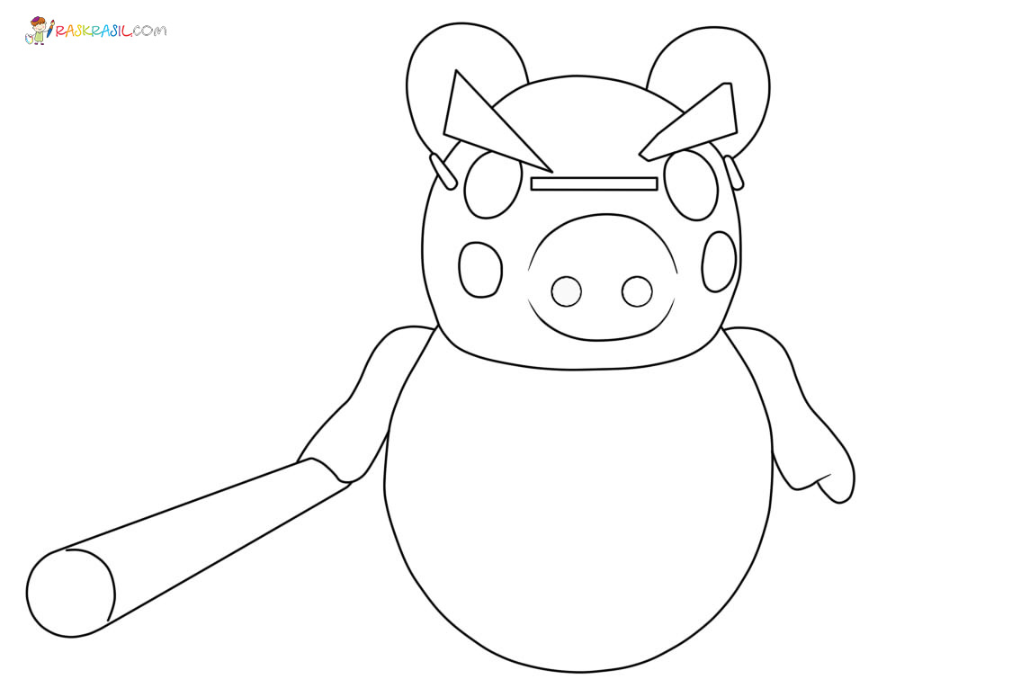 Coloriage Piggy Roblox   Nouvelles images pour une impression gratuite