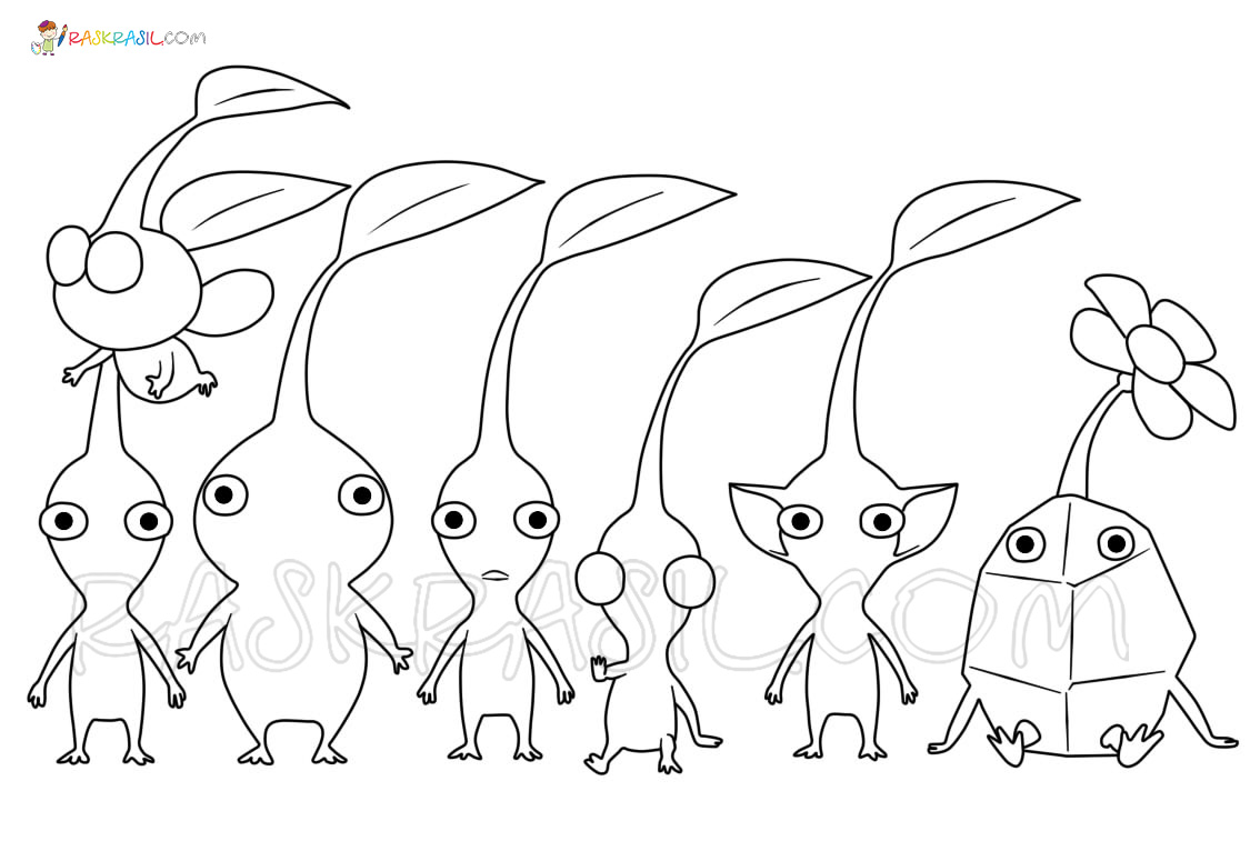 Раскраски Пикмин - Распечатать бесплатно раскраски для детей