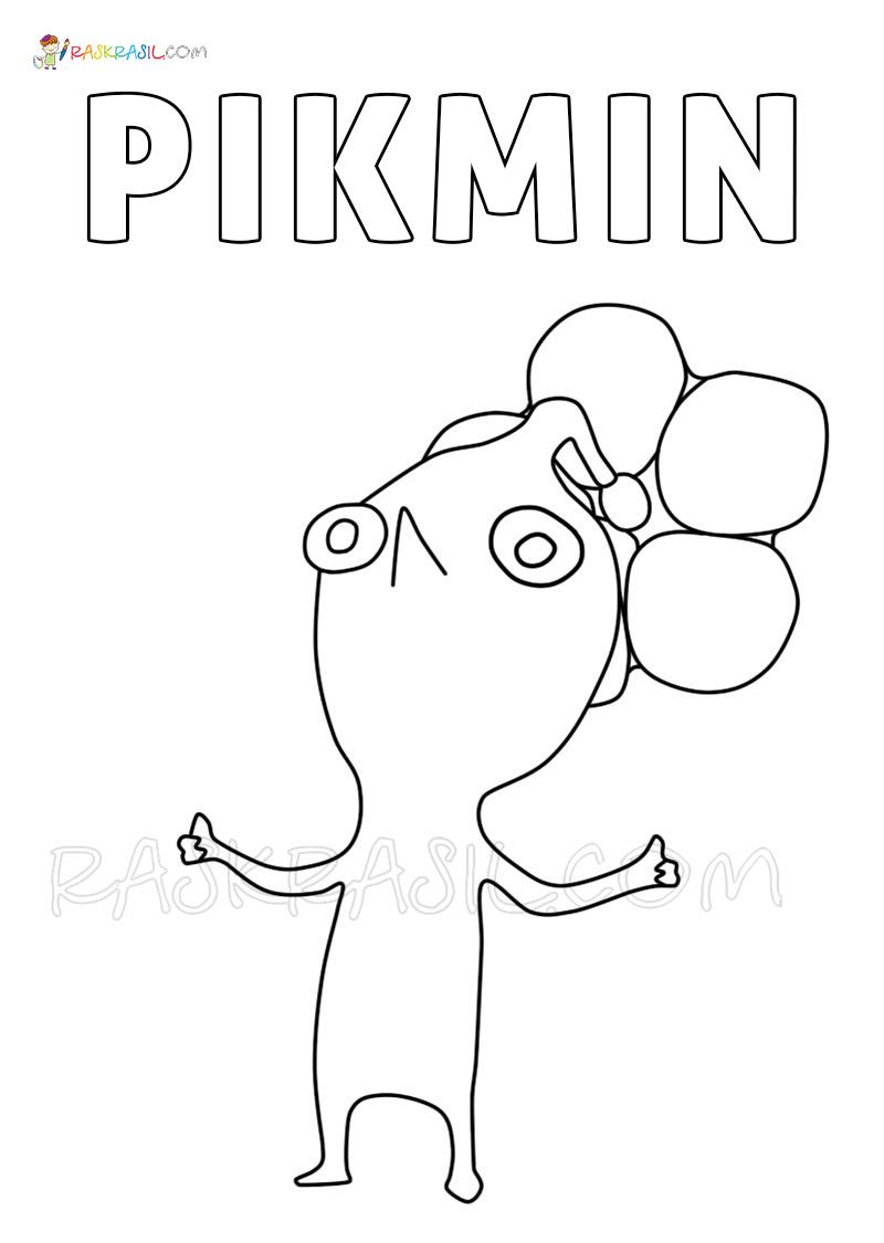 Ausmalbilder Pikmin 10 Deluxe  Neue Malvorlagen zum Drucken