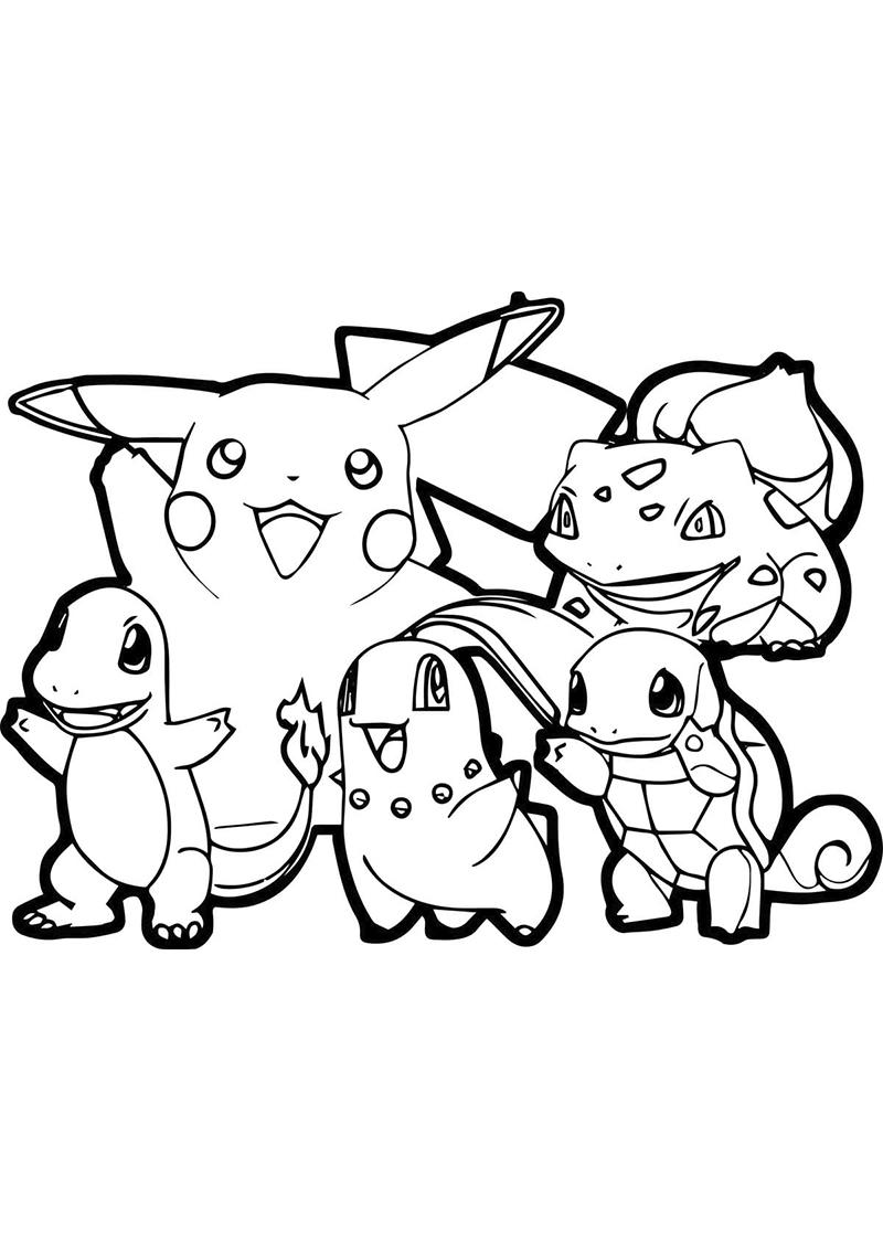 Ausmalbilder Pokemon. 7 besten druckbaren Bilder kostenlos