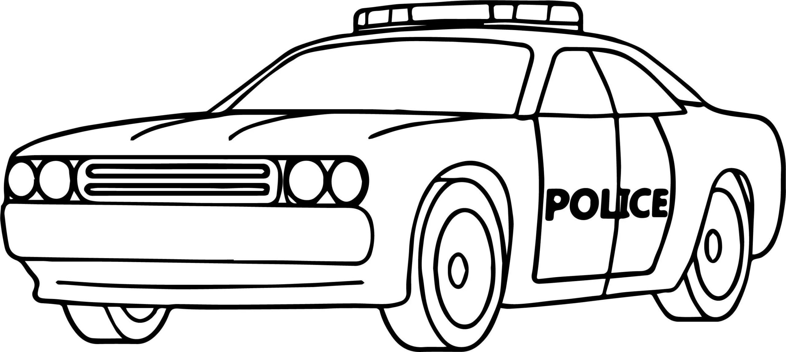 polizeiauto ausmalbild  polizeiautos de  ausgemalte