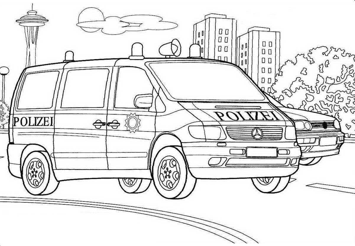 Ausmalbilder Polizei  Malvorlagen zum kostenlosen Drücken