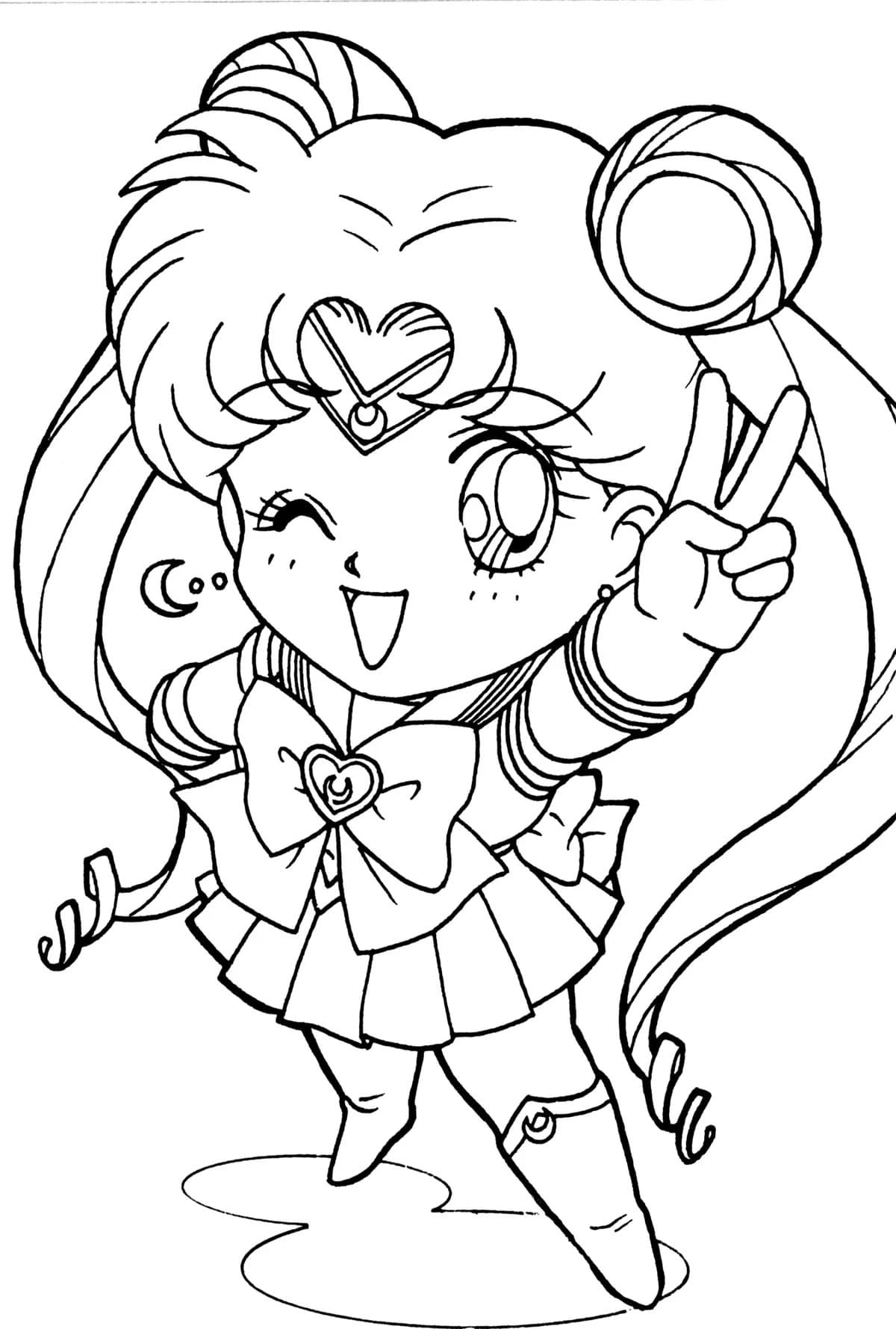 Sailor Moon Coloring Pages   18 Free Coloring Pages