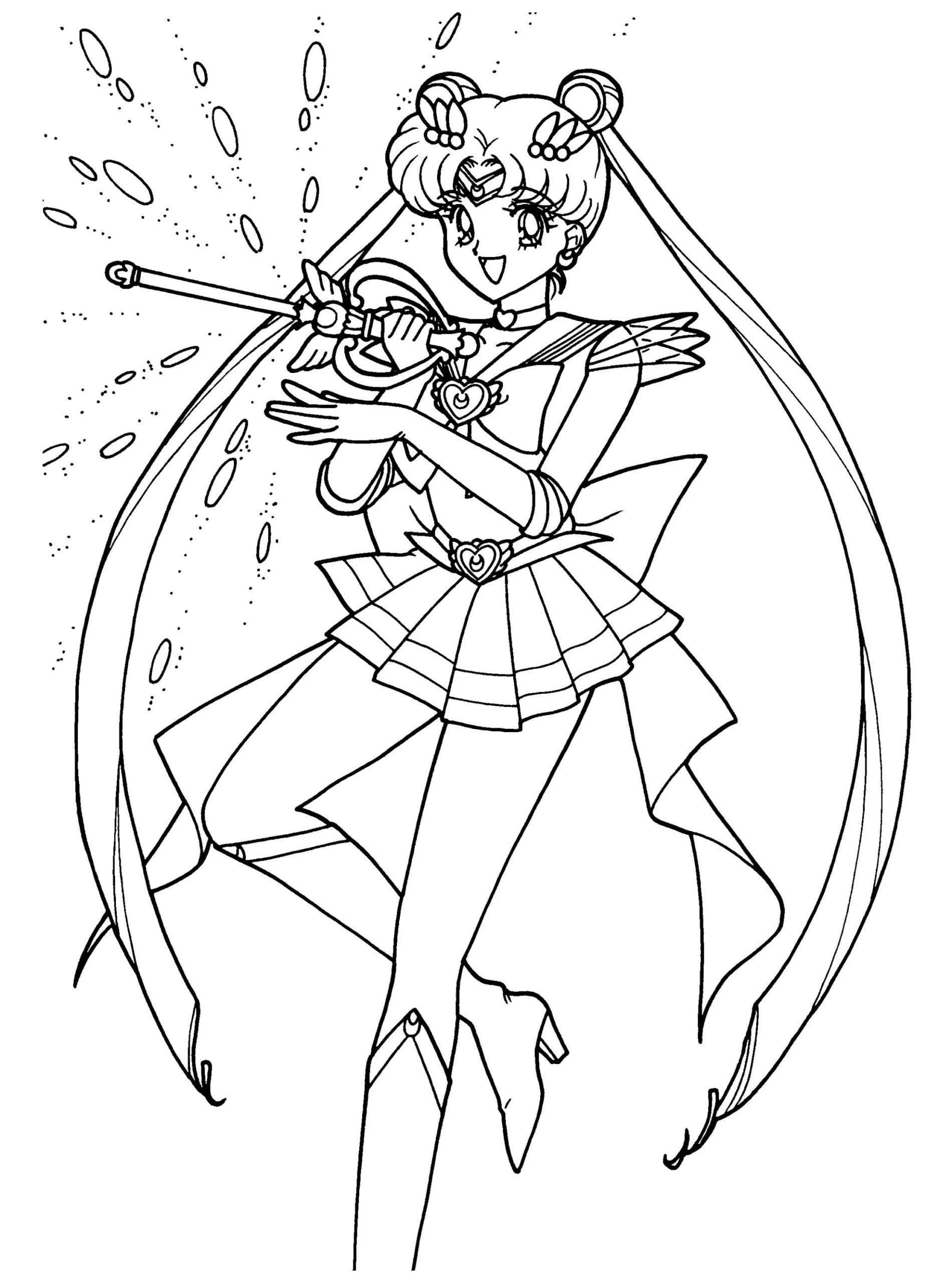 Disegni Di Sailor Moon Da Colorare 100 Immagini Per La Stampa Gratuita