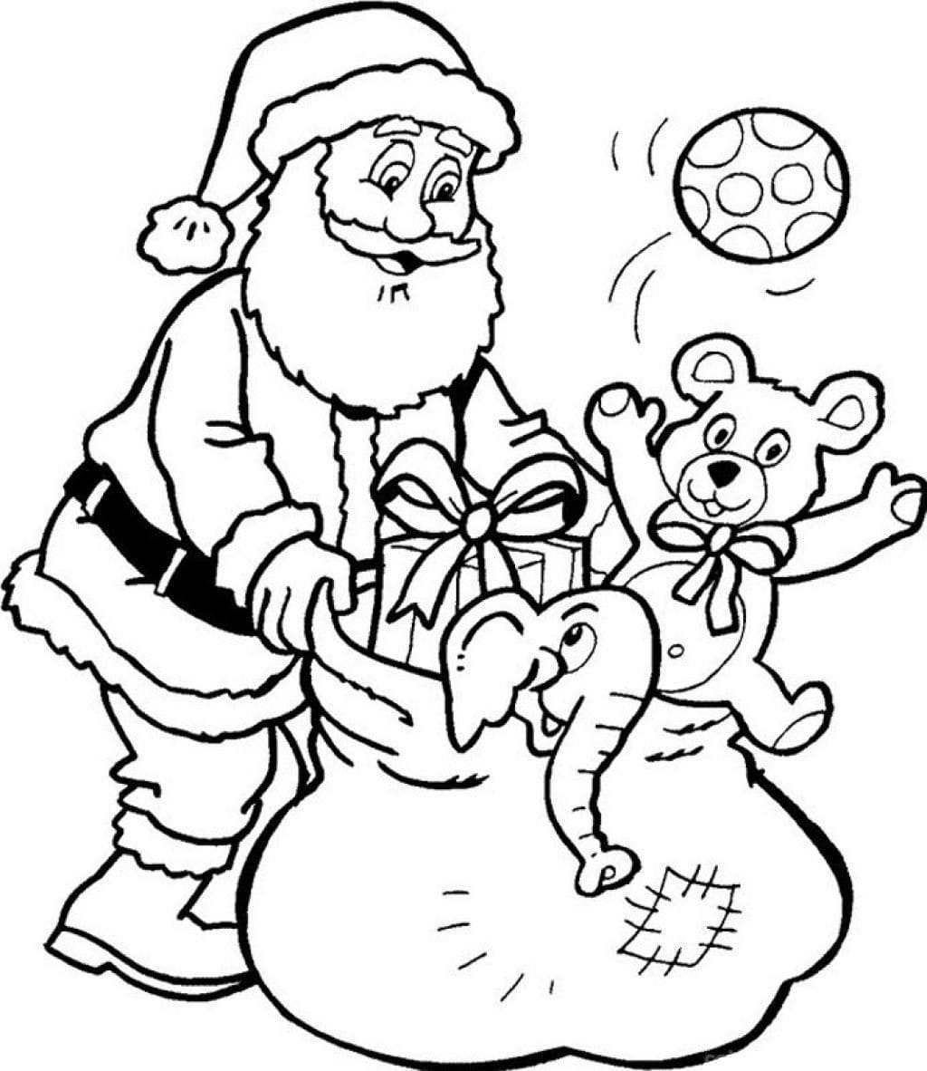 Ausmalbilder Weihnachtsmann  18 Bilder zum kostenlosen Drucken