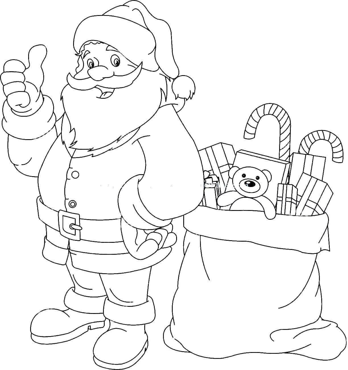 Dibujos De Papá Noel Para Colorear 100 Imágenes Para Imprimir