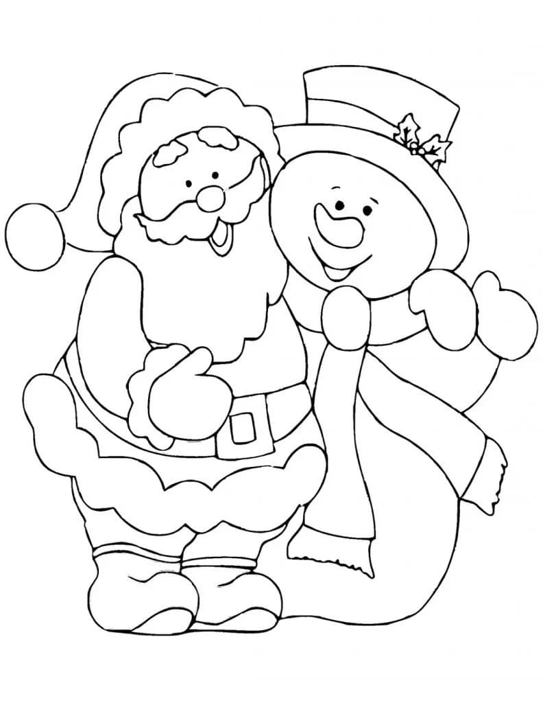 Disegni di Babbo Natale da colorare. 100 immagini per la stampa gratuita