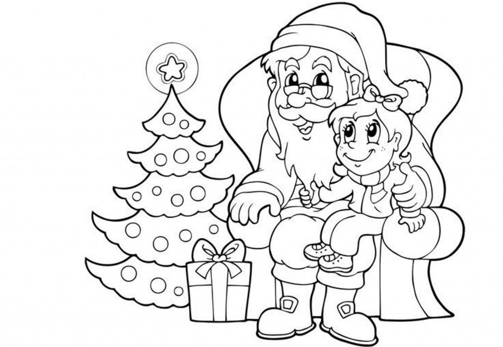 Santa Claus Coloring Pages | 100 Images Free Printable