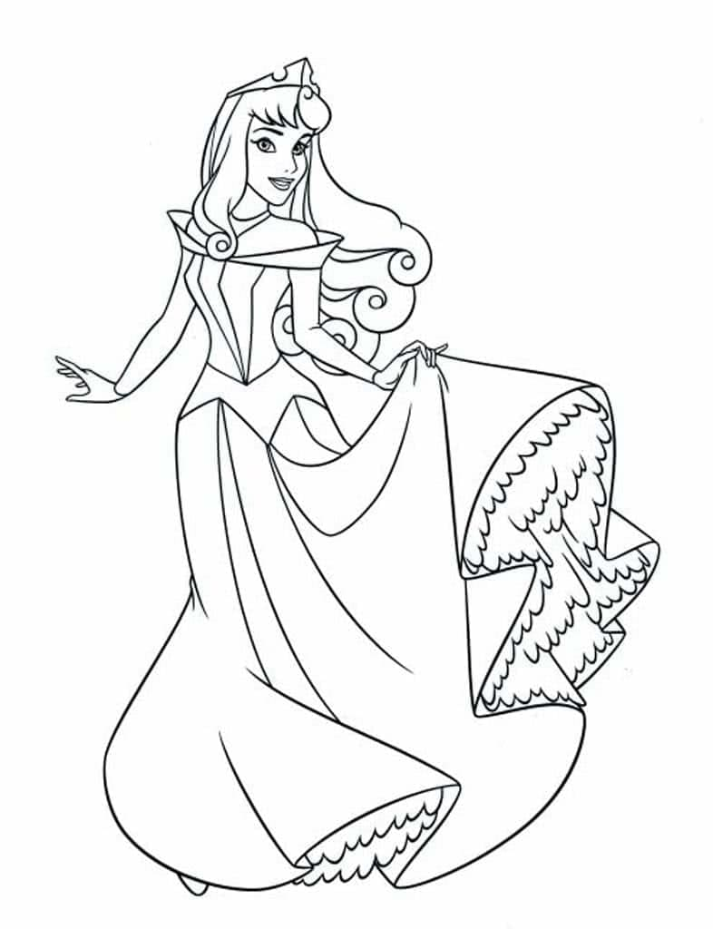 Sleeping Beauty Coloring Pages 100 Images Free Printable