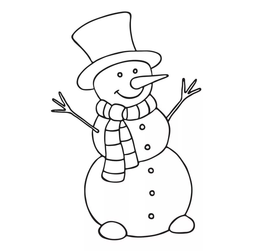 Snowman Coloring Pages 100 Images Free Printable