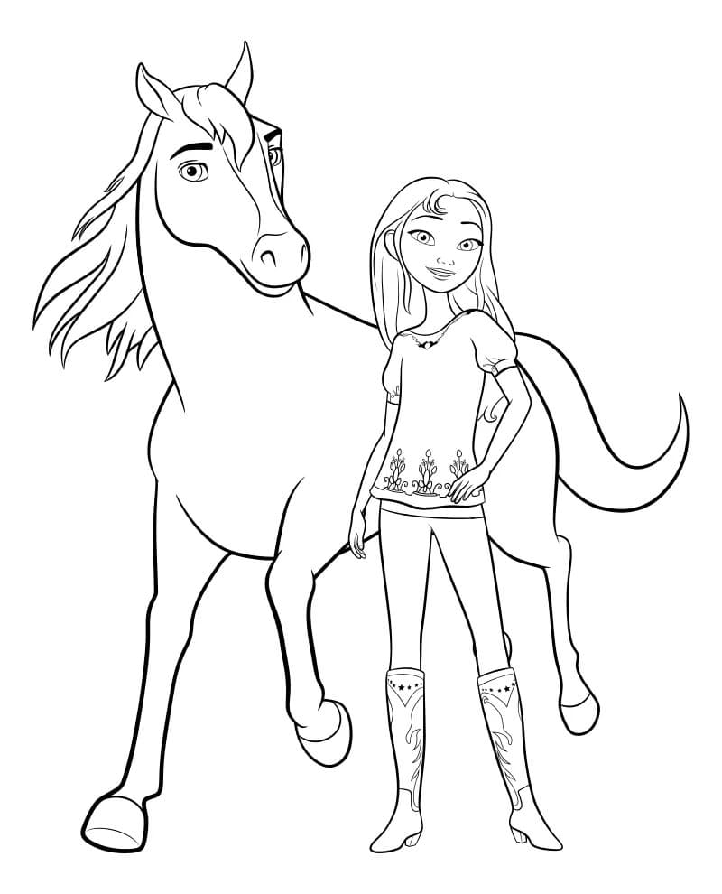 Spirit Riding Free Coloring Pages. 40 New Images Free ...