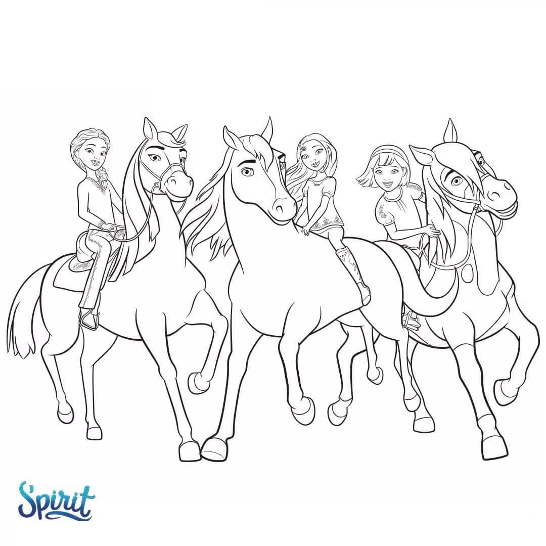 Ausmalbilder Spirit. 9 Bilder von Wilde Mustang zum Drucken