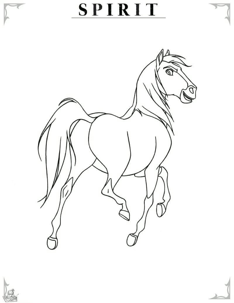 ausmalbilder pferde spirit  kids n fun de 16 ausmalbilder