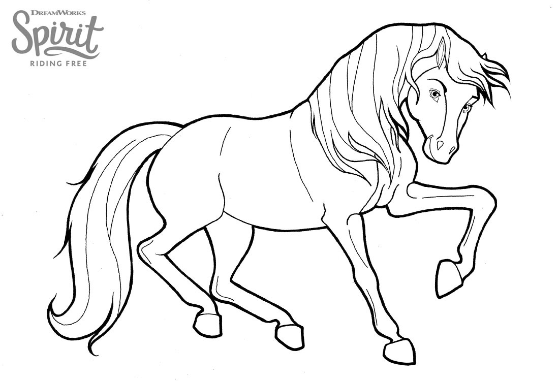 Spirit Riding Free Coloring Pages 40 New Images Free Printable
