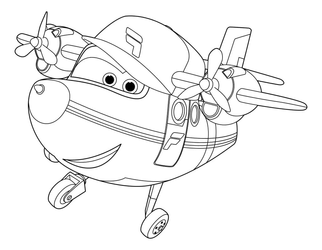 Super Wings Coloring Pages 100 Best Images Free Printable
