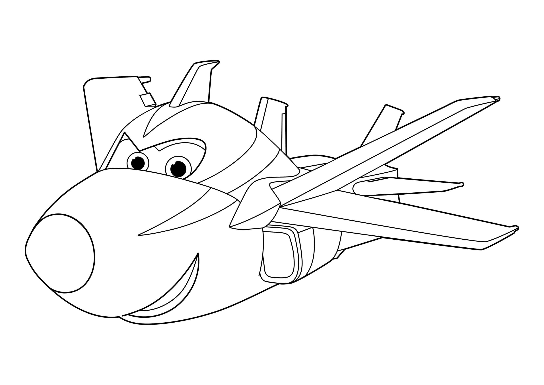 Раскраска Супер Крылья. Распечатать Джетта и его друзей бесплатно