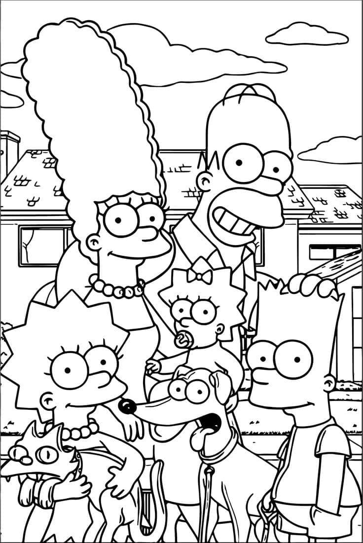 Ausmalbilder Simpsons  19 Malvorlagen zum kostenlosen Drucken