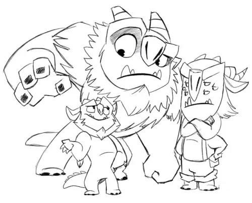 Раскраски из мультсериала Охотники на троллей. Распечатать бесплатно