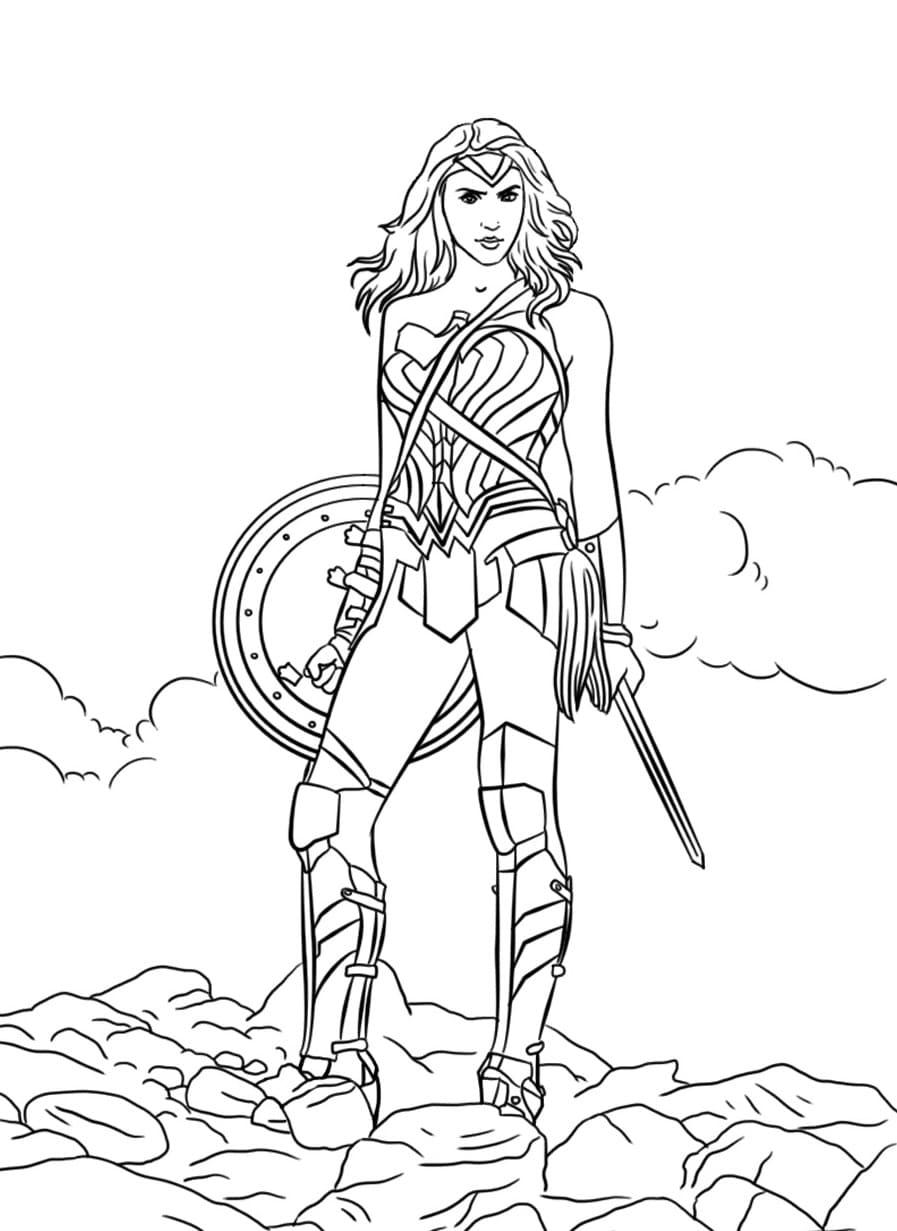 Ausmalbilder Wonder Woman  27 Malvorlagen zum kostenlosen Drucken