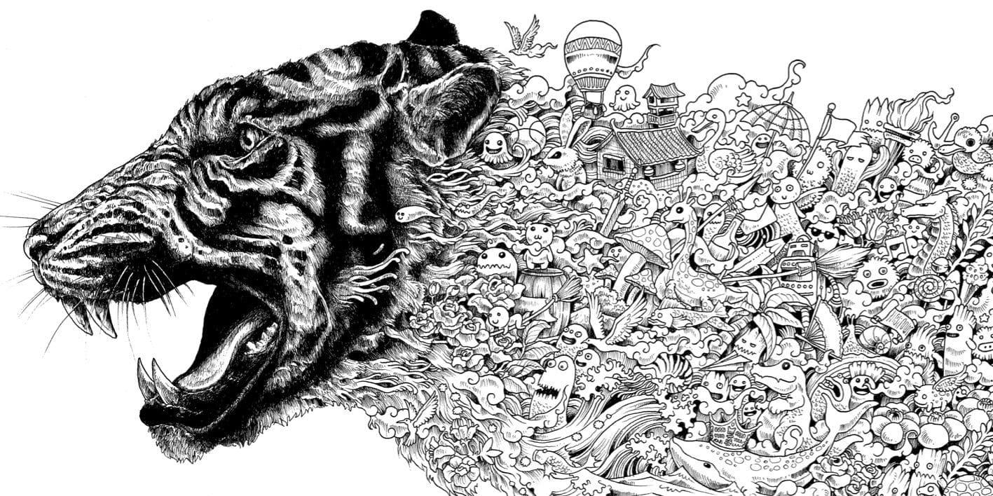 ausmalbilder tiger für erwachsene  kinder ausmalbilder
