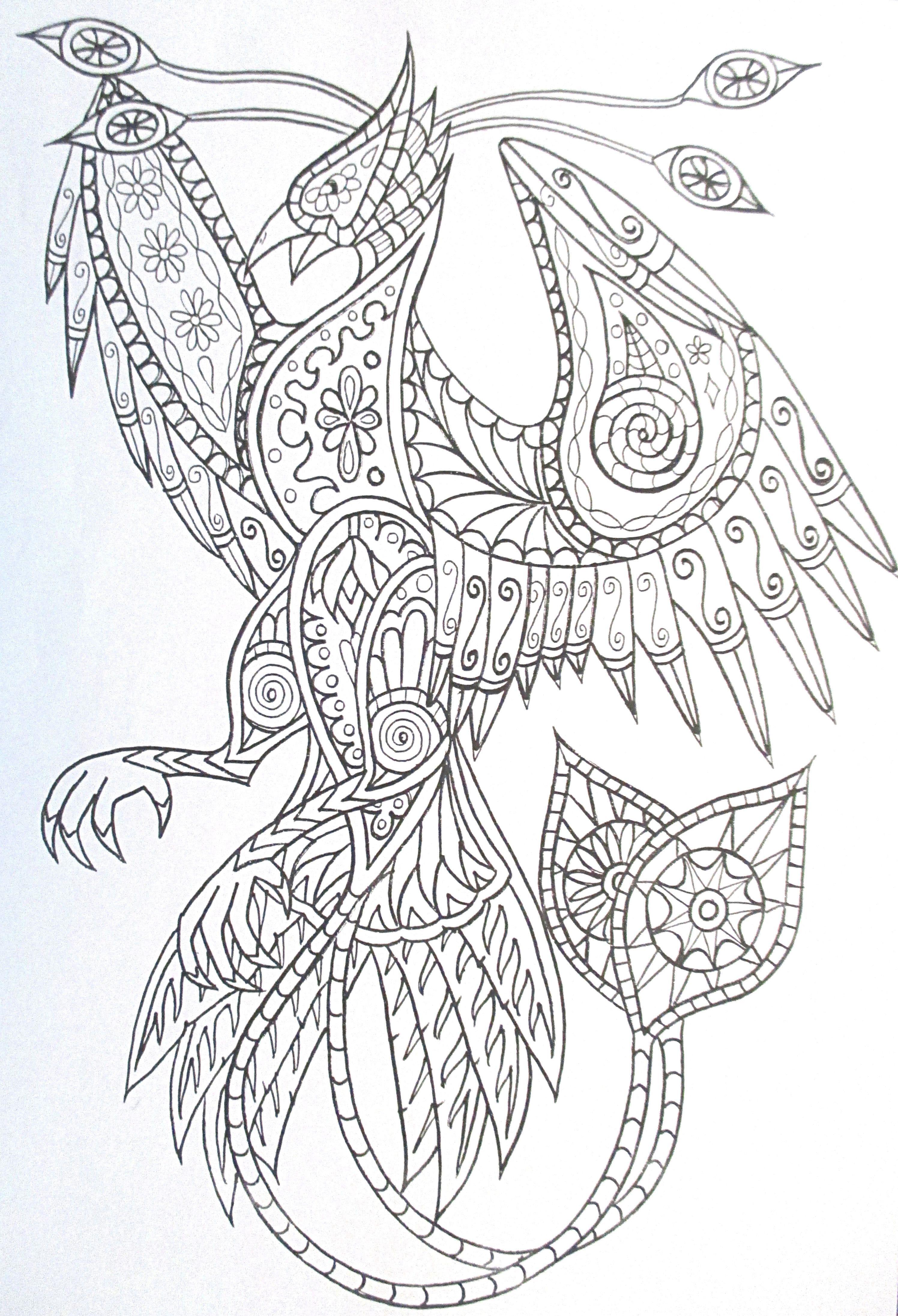 Desenhos de colorir para Adultos. Coloração complexa. Imprimir grátis