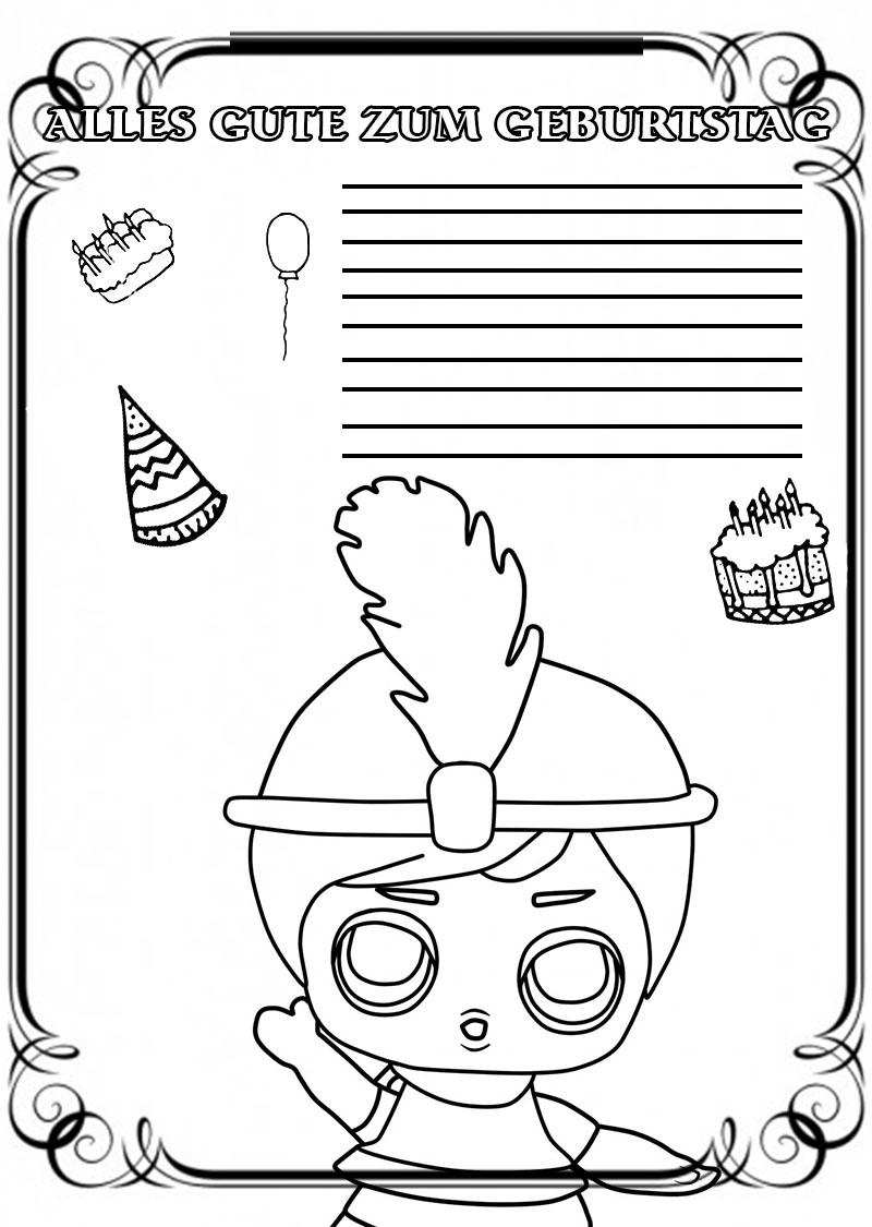 Ausmalbilder zum Geburtstag. 50 Gruß Malvorlagen. Kostenlos drucken