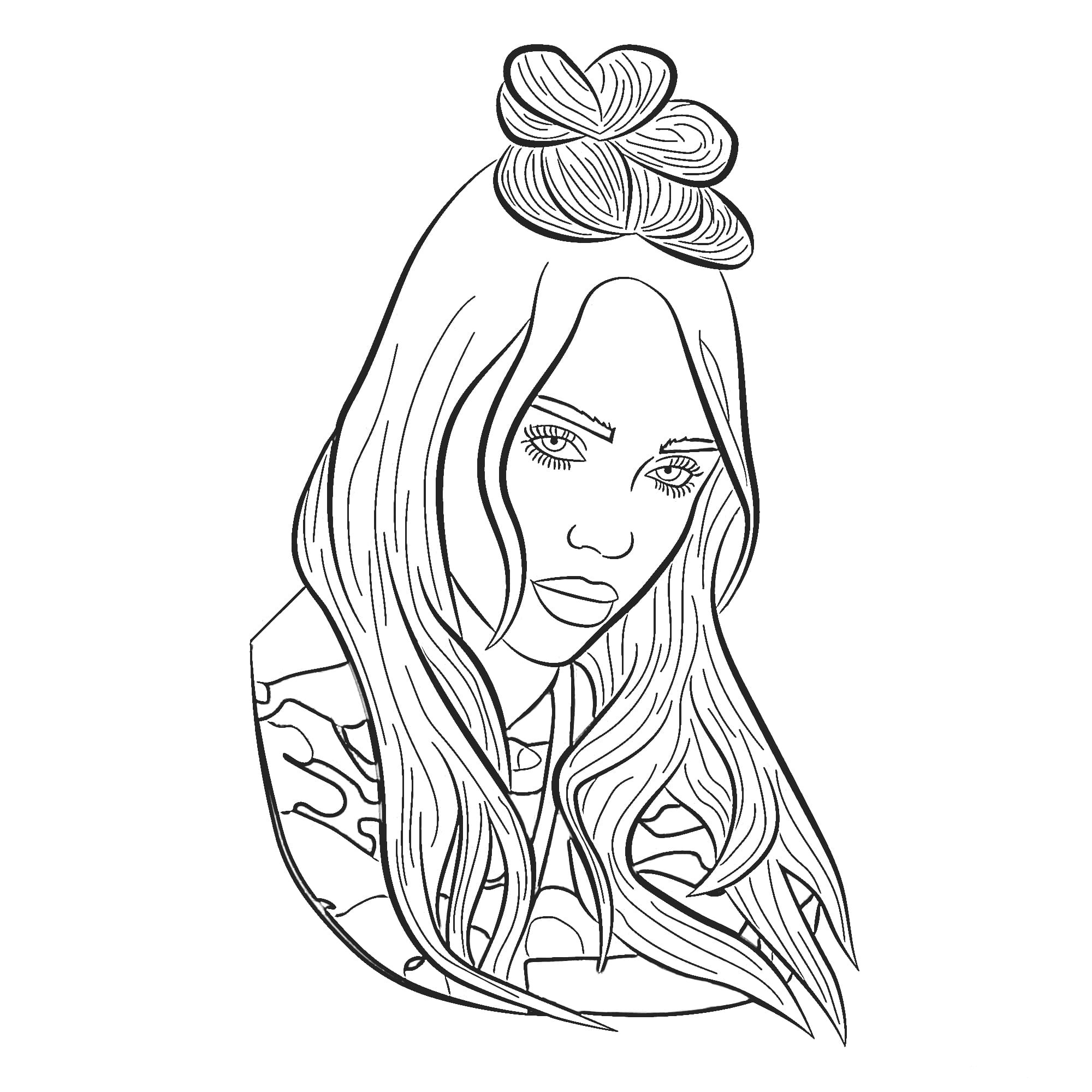 Famous singers coloring pages with pop stars Topcoloringpages | 2000x2000