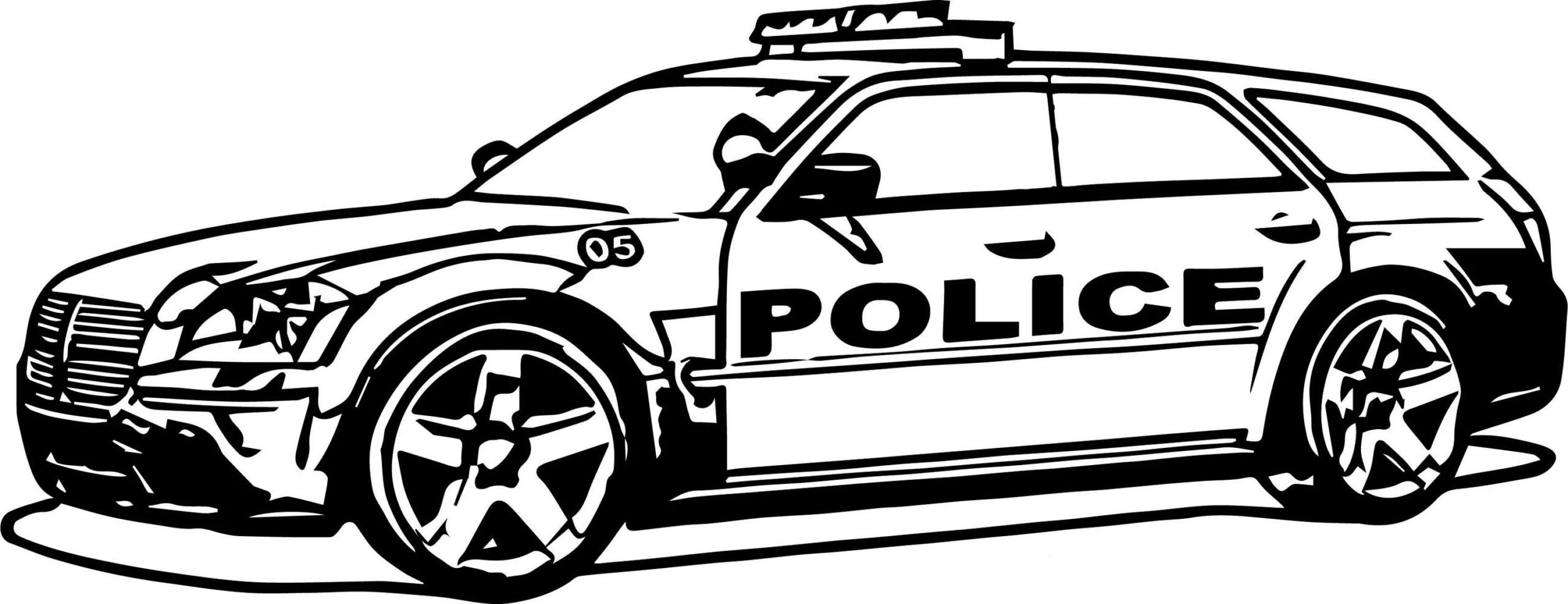 Disegni Di Macchina Della Polizia Da Colorare Stampa Gratuitamente