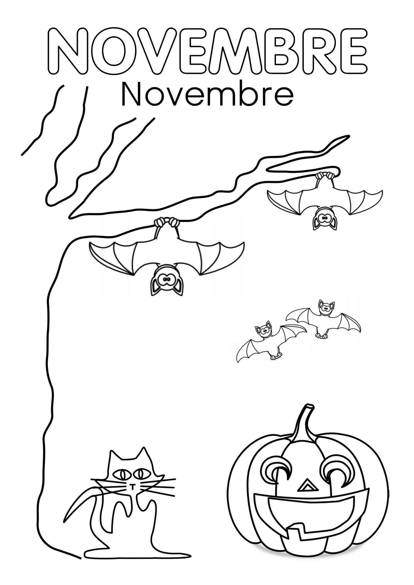 Coloriage Novembre 25 Images D Automne A Imprimer Gratuitement