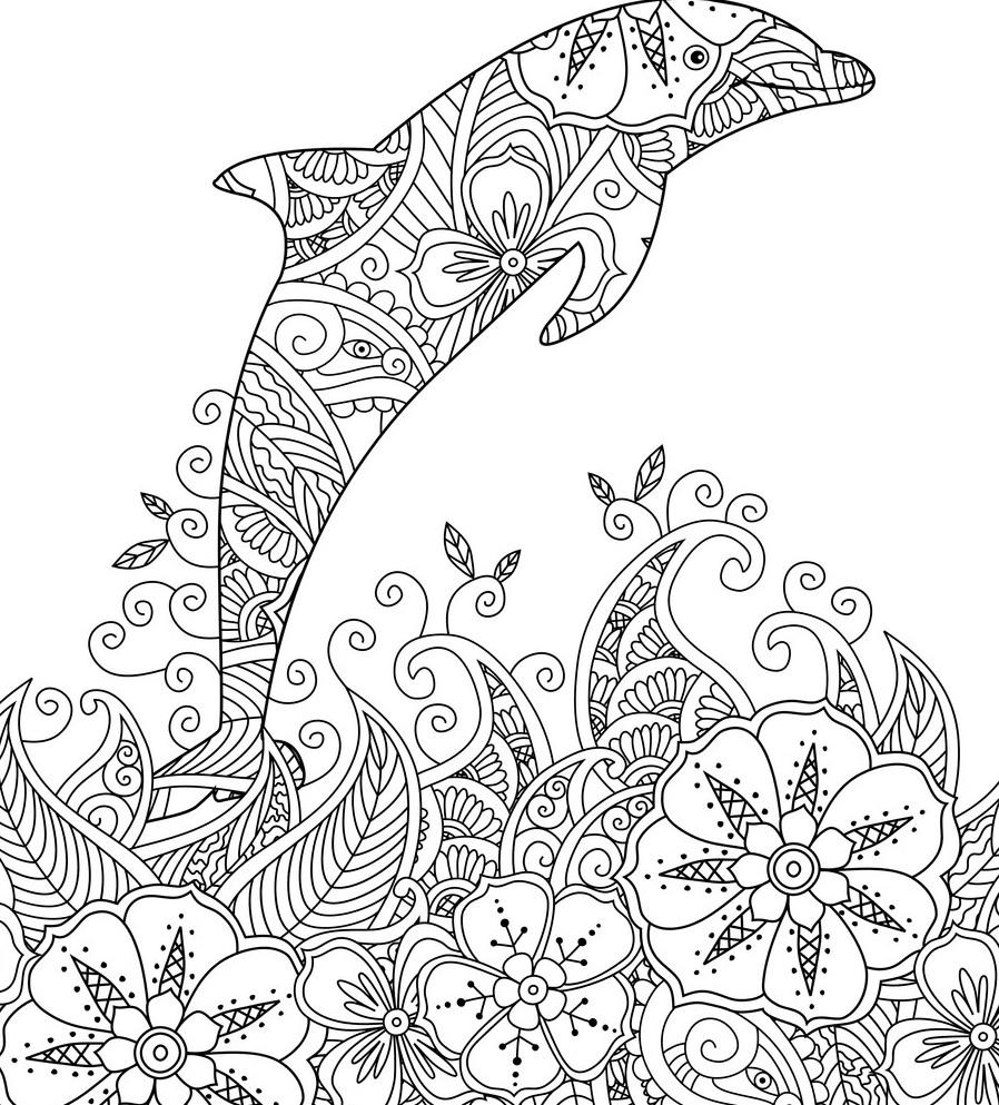 Delfin Ausmalbild. 11 Malvorlagen Kostenlos zum Ausdrucken