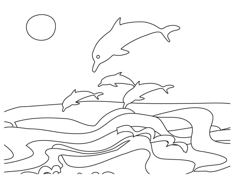 Coloriage Dauphin. Les 100 meilleures images à imprimer gratuitement