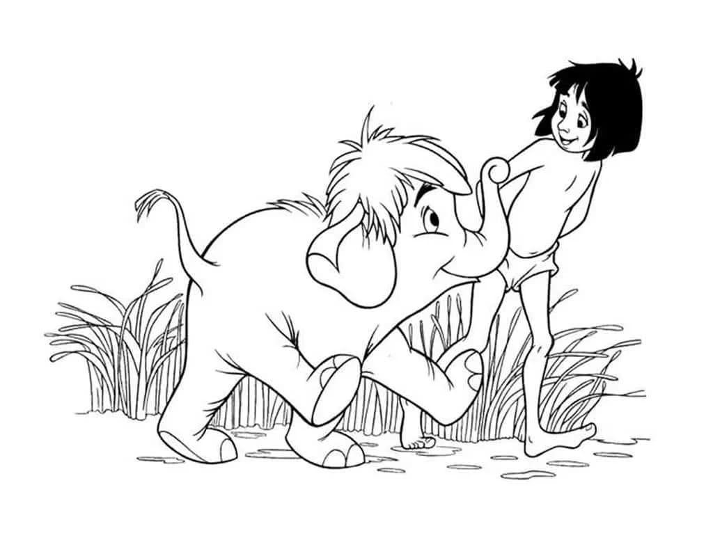 Dschungelbuch Ausmalbild. 100 Malvorlagen zum Ausdrucken für Kinder