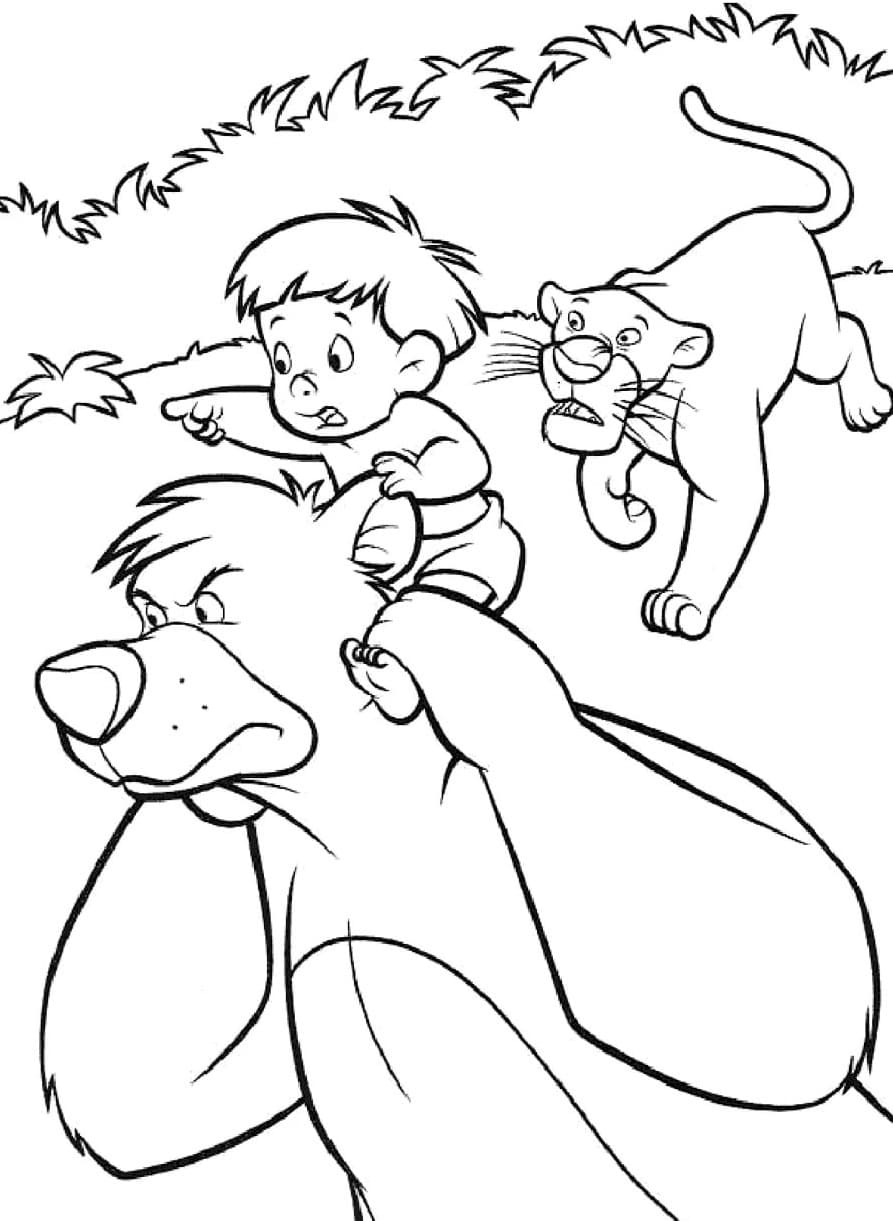 Jungle Book Coloring Pages. Top 100 Images Free Printable