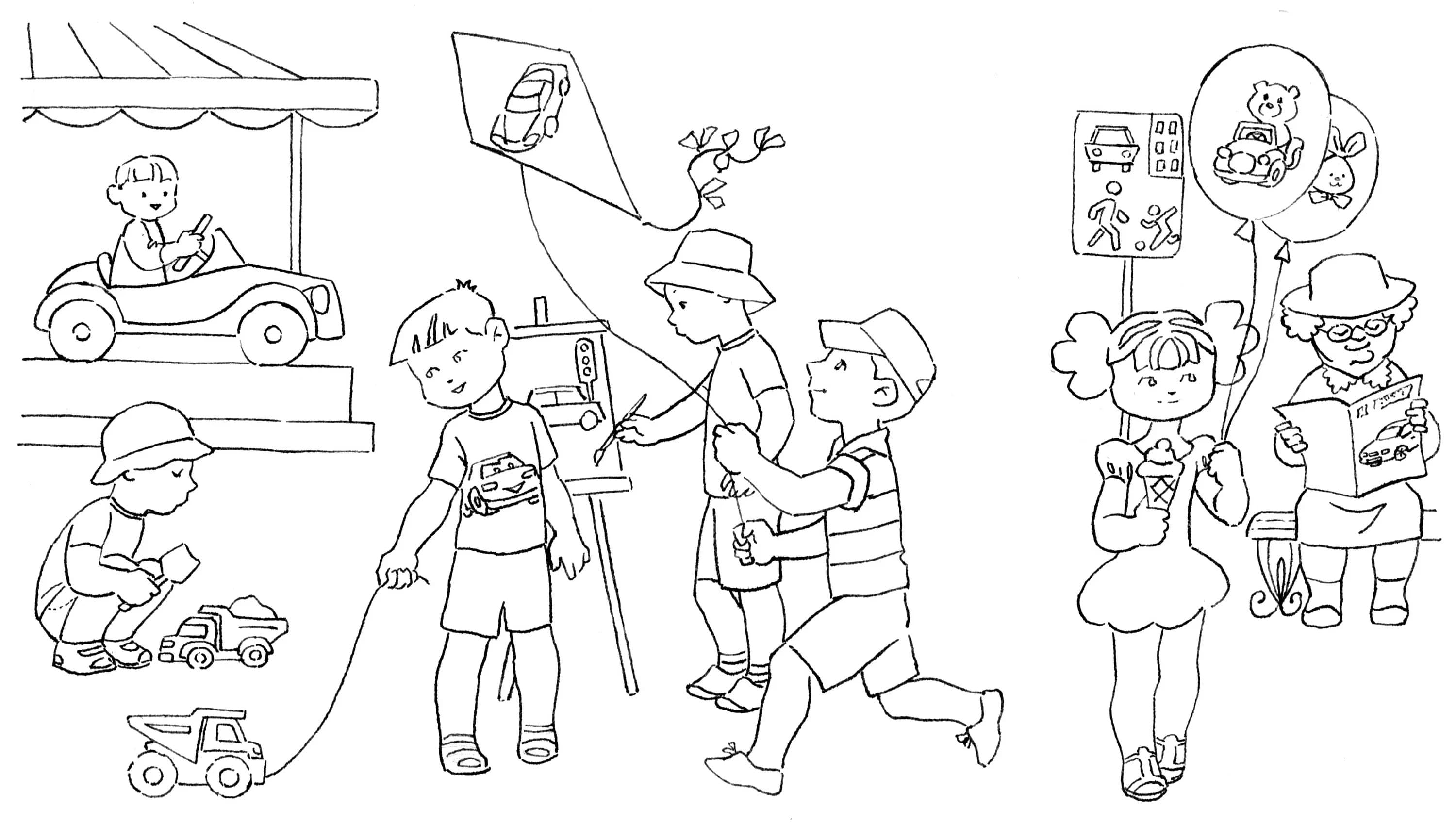 Kindergarten Coloring Pages. 100 Pictures for Free Printing
