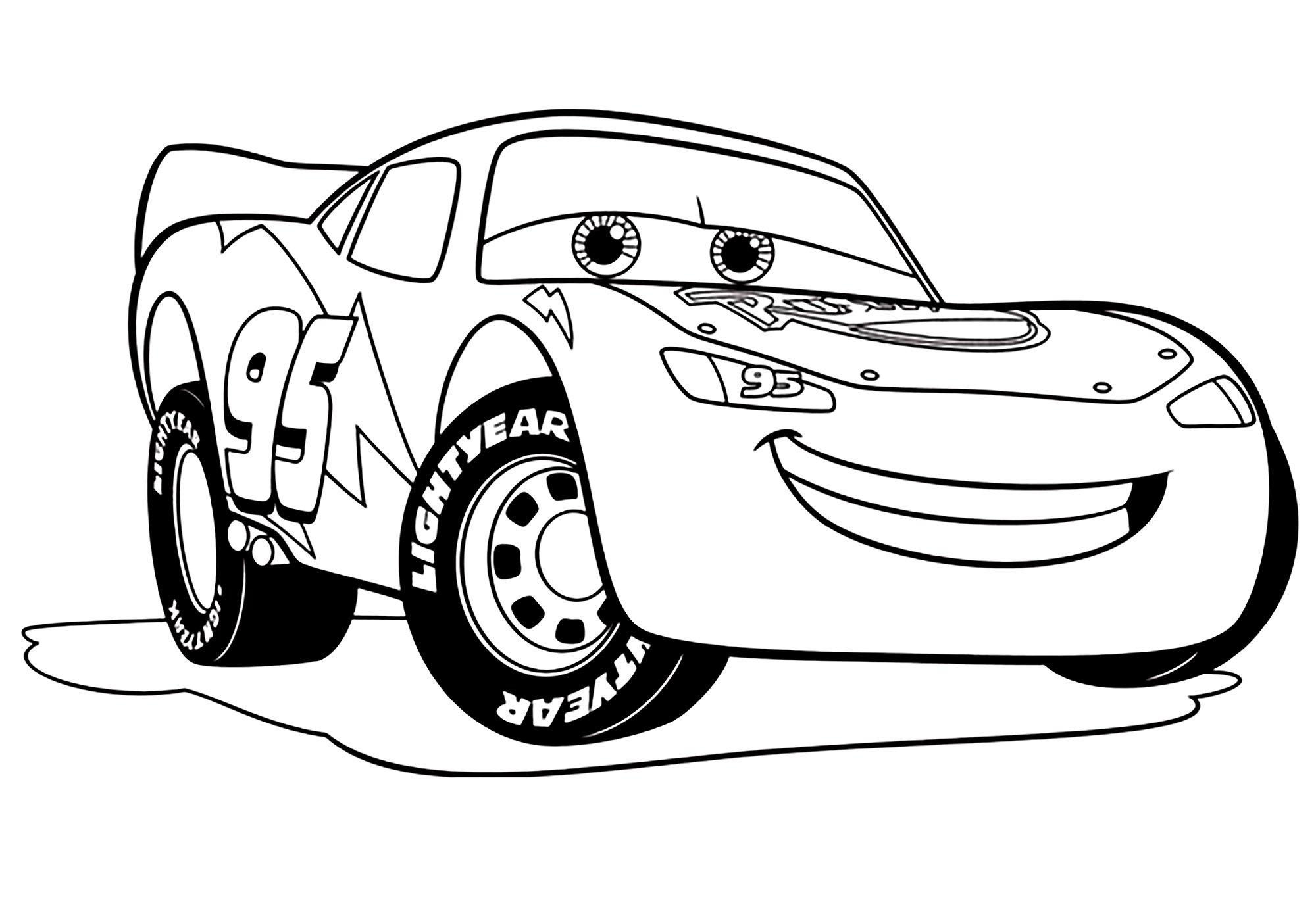 Lightning Mcqueen Coloring Page | 80 images Free Printable