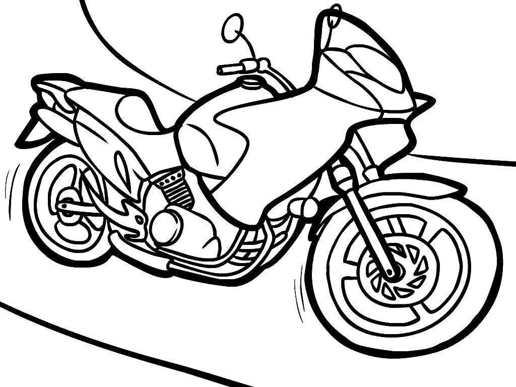 ausmalbild motorrad mit beiwagen | kinder ausmalbilder