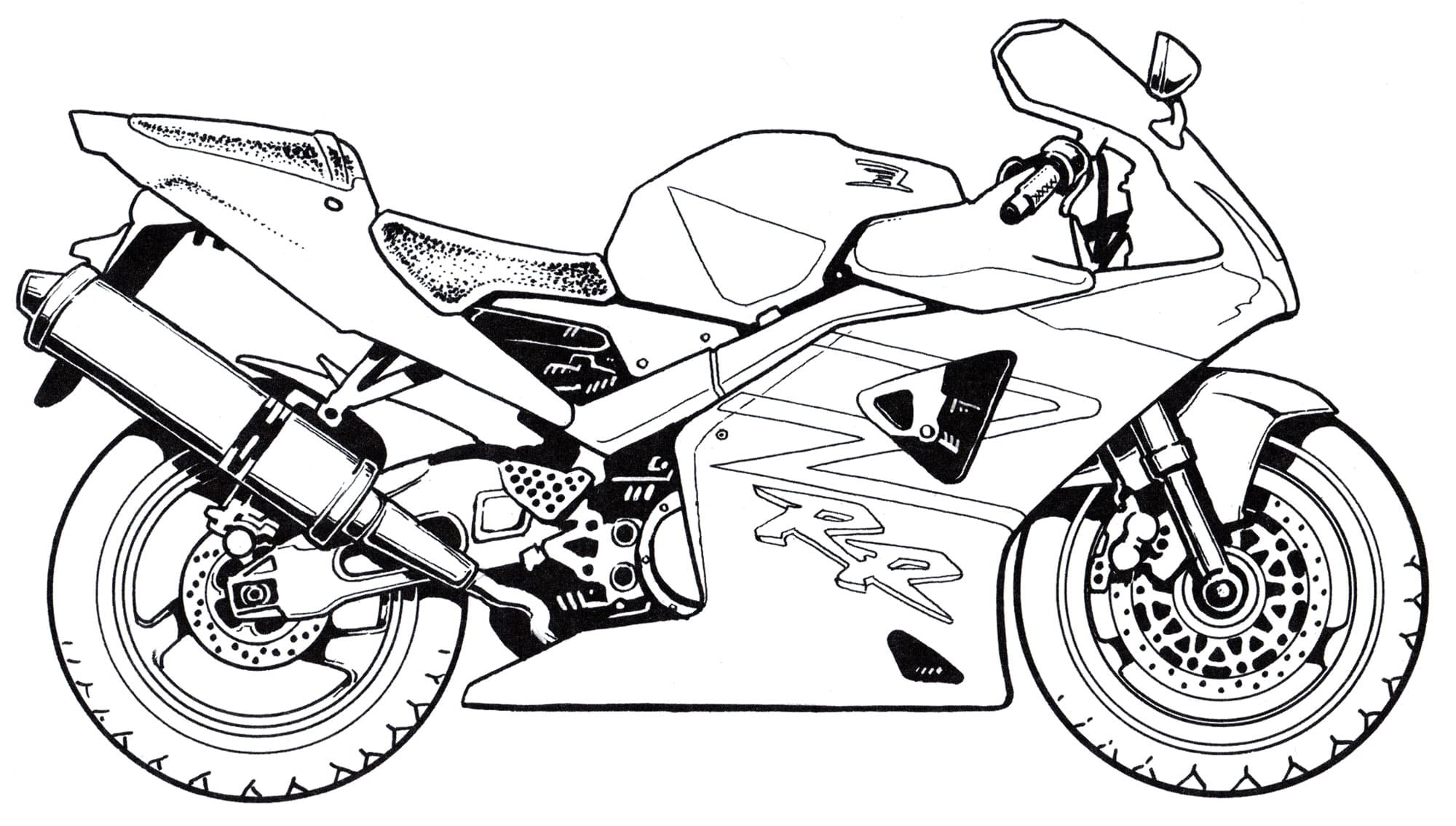 Motorcycle Coloring Pages For Kids. Free Printable | 1134x2000