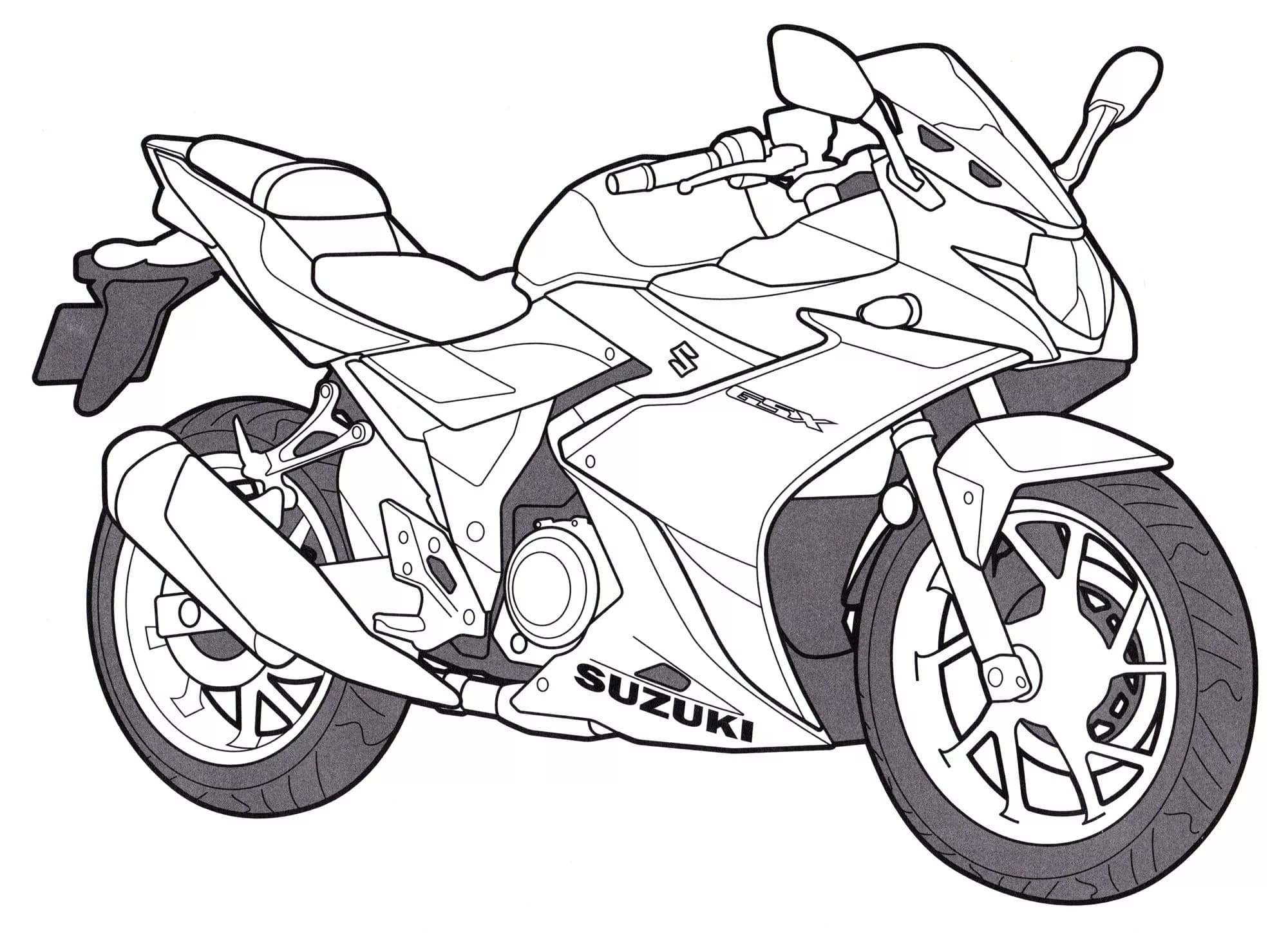 Motorcycle Coloring Pages For Kids Free Printable