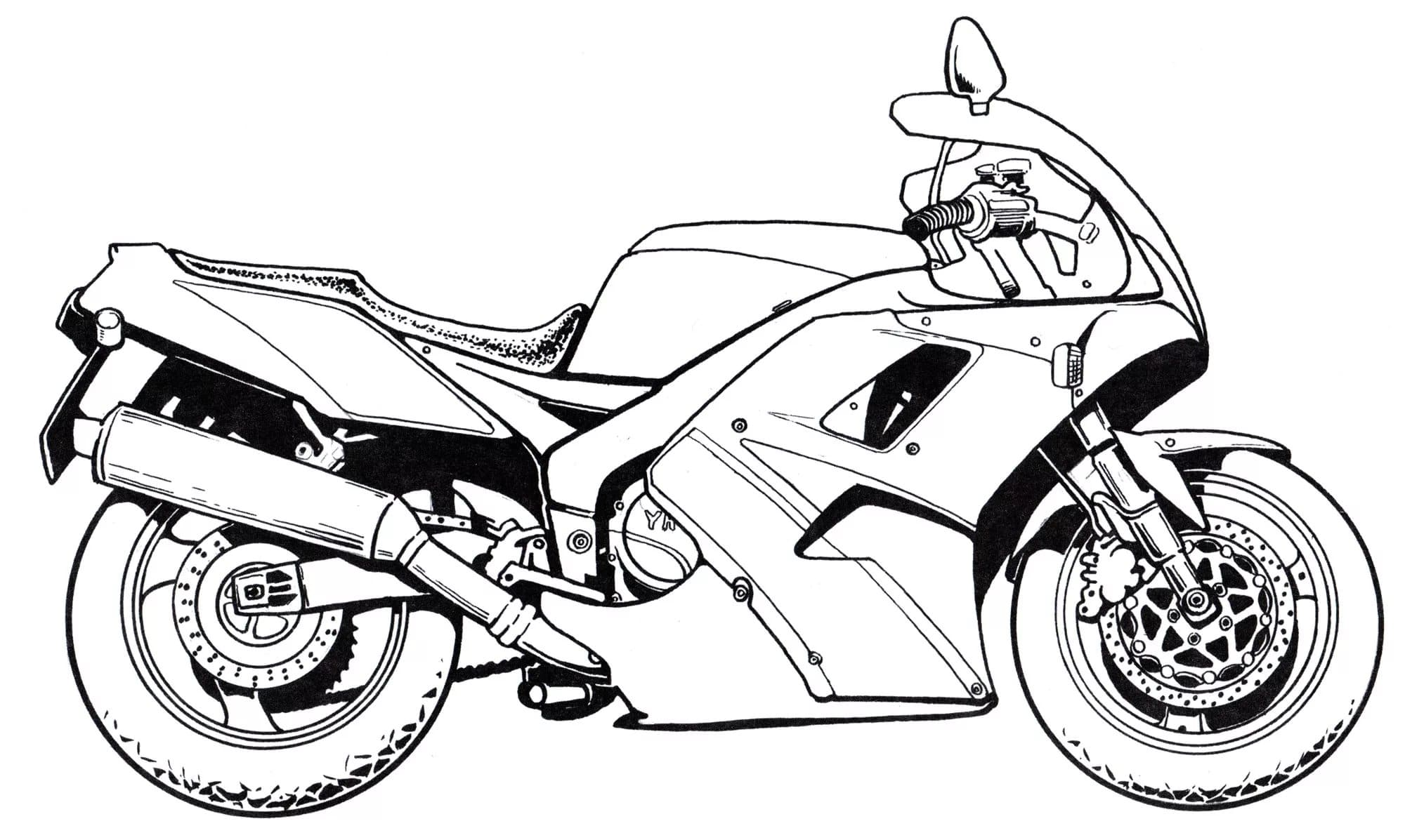 Kawasaki Motorcycle coloring page | Free Printable Coloring Pages | 1197x2000