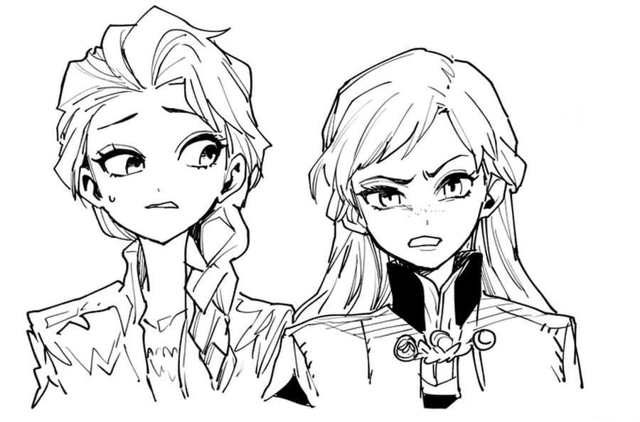 Dibujos para colorear Frozen 2. 100 imágenes con tus personajes favoritos