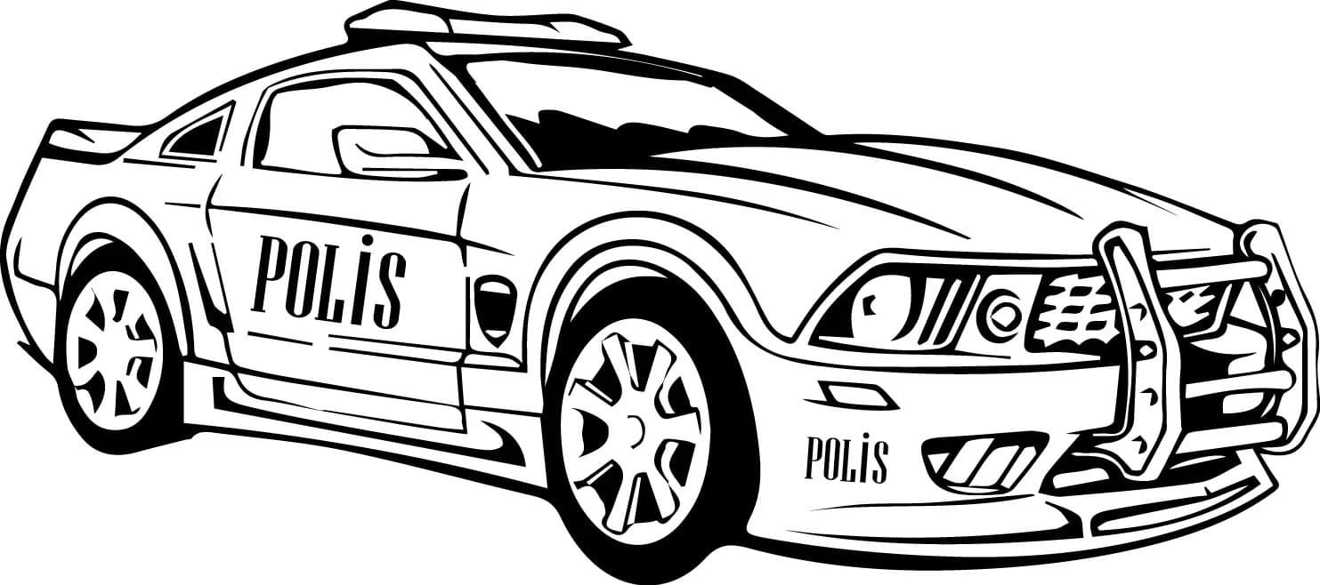 Police Car Coloring Pages 40 Images Free Printable
