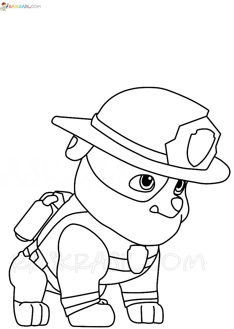 """Раскраски """"Щенячий патруль"""" в формате А4. Распечатайте бесплатно!"""