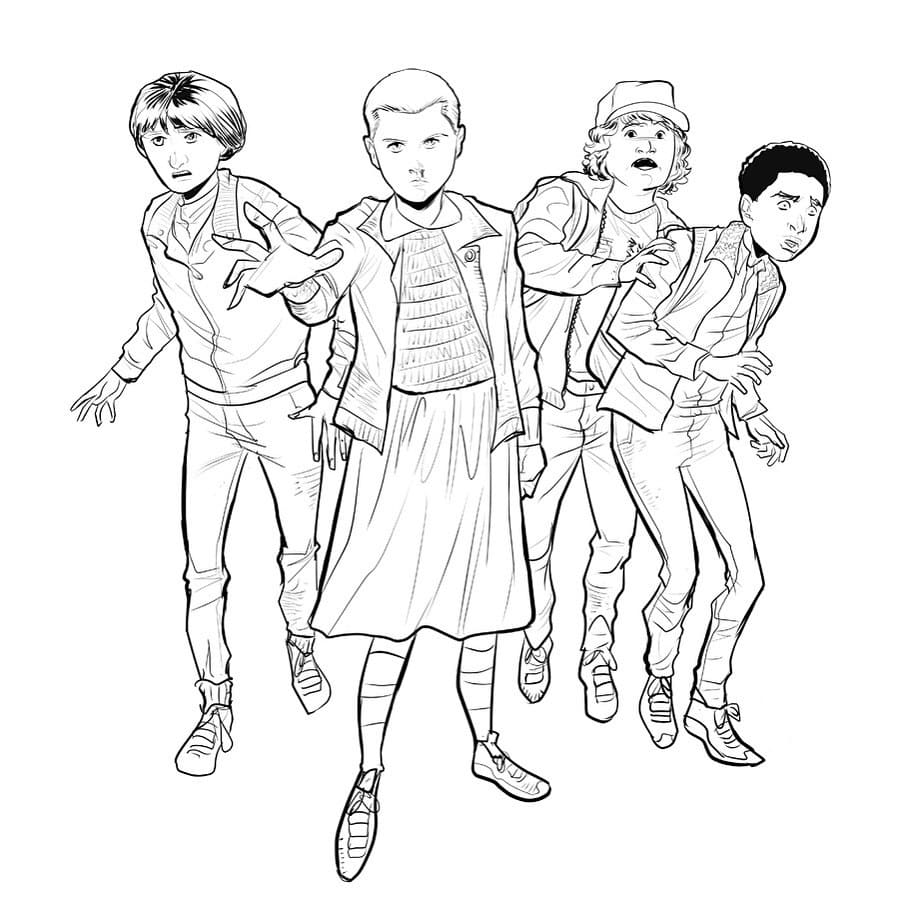 Coloring Pages Stranger Things. Free printable of all characters