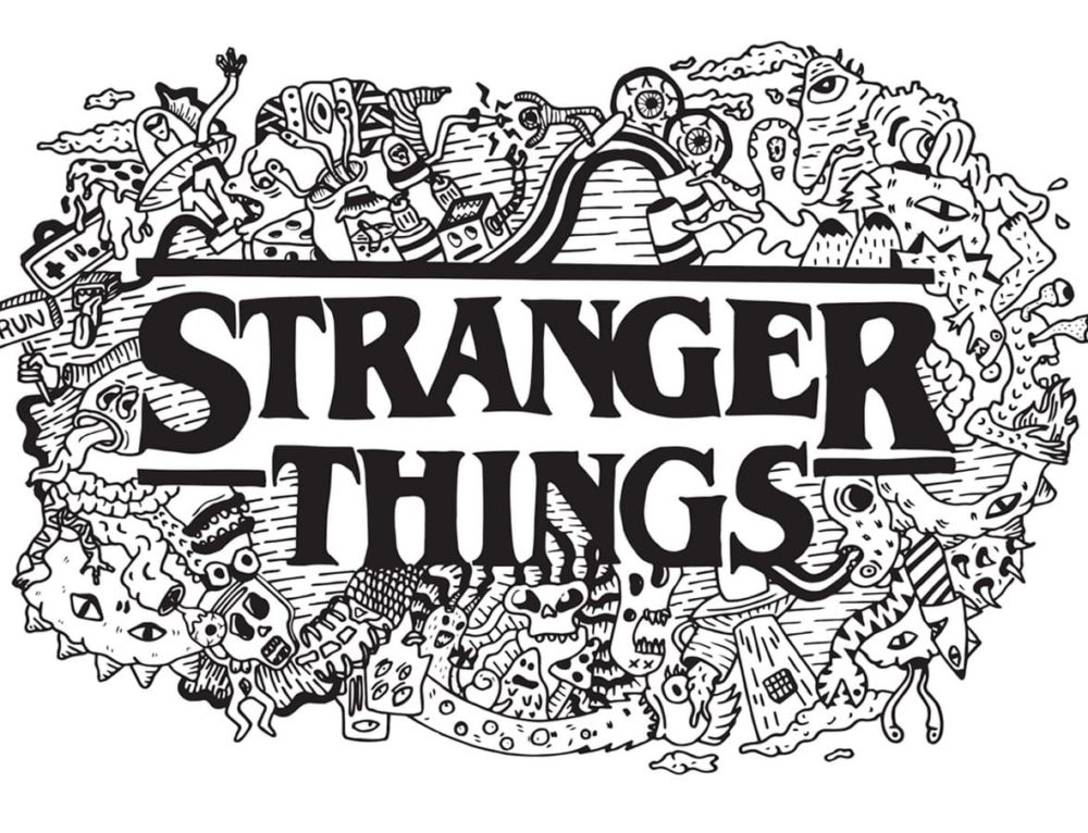 Coloriage de Stranger Things. Imprimer des images sympas
