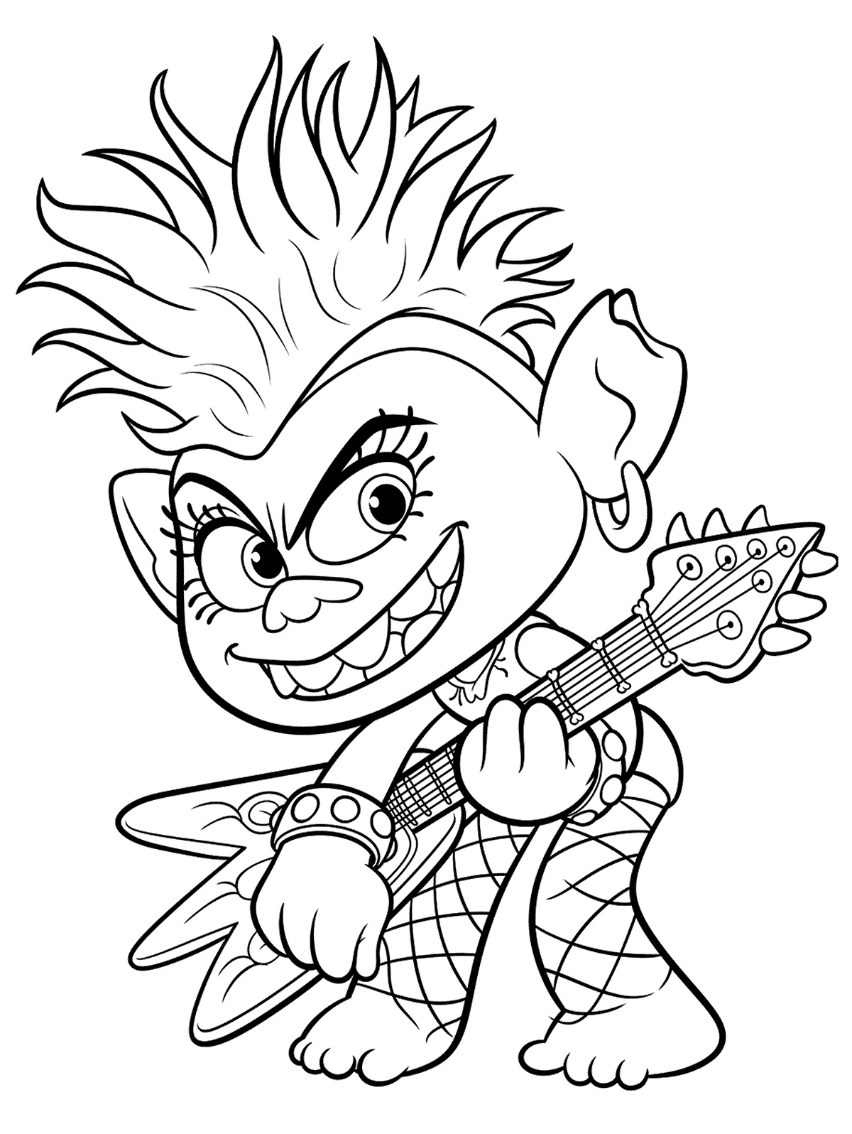 Trolls World Tour Coloring Pages. Print for Free New Trolls