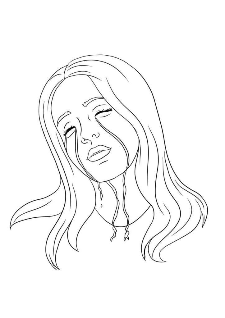 Coloring Pages Billie Eilish. Print Out Talented Singer