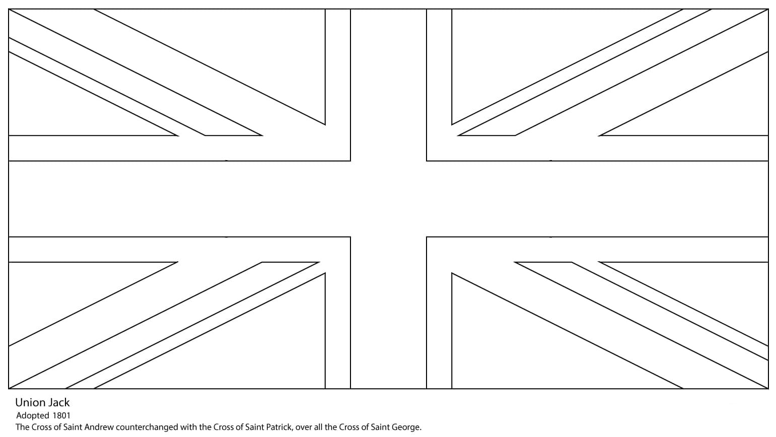 Great Britain flag coloring pages. Print for free online