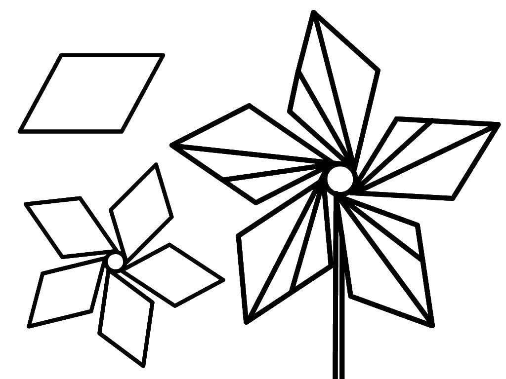 Disegni da colorare Forme Geometriche. Stampa gratis per i bambini
