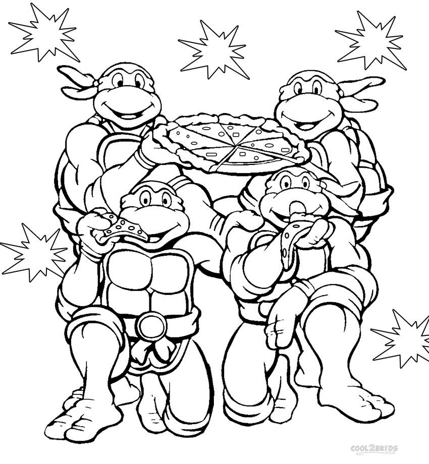 teenage mutant ninja turtles coloring pages | Teenage Mutant Ninja Turtles Coloring Pages. Print Them ...